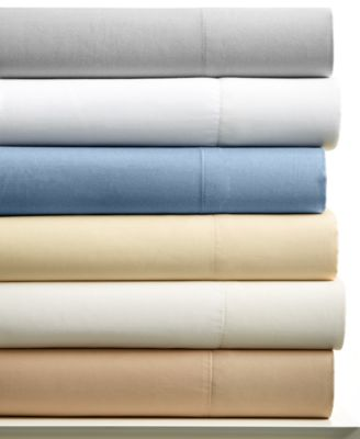 CLOSEOUT! Charter Club Cotton 400 Thread Count Wrinkle Resistant Tailored Fit Solid Queen Sheet Set, Only at Macy's