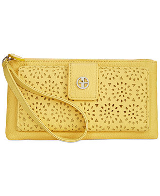 Giani Bernini Perforated Leather Medium Grab & Go Wallet