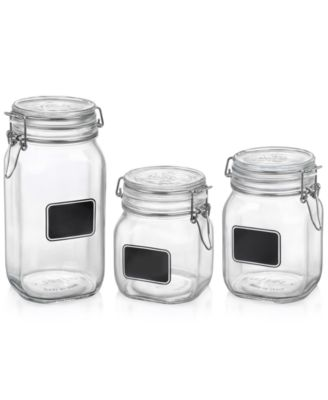 Bormioli Rocco Fido 3 Piece Jar Chalk Set