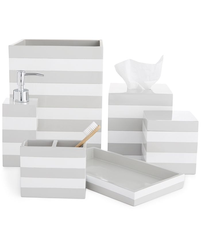 Cassadecor Lacquer Stripe Bath Accessory Collection Reviews Bathroom Accessories Bed Macy S