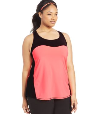 Ideology Plus Size Colorblocked Tank Top