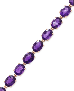 Effy Amethyst Tennis Bracelet in 14k Rose Gold (19-7/8 ct. t.w.)