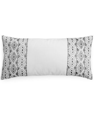 "Bar III Diamond Pleat Embroidered Edge 12""x 25"" Decorative Pillow"