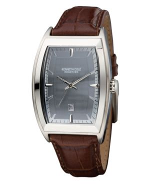 Kenneth Cole New York Watch, Men's Croc Embossed Leather Strap KC1417
