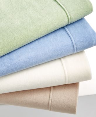 CLOSEOUT! Martha Stewart Collection Bedding, Microfleece King Sheet Set