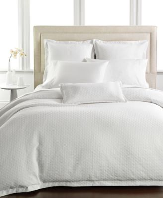 Hotel Collection Diamond Matelasse Full/Queen Duvet Cover