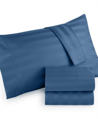 Westport 1000 Thread Count Egyptian Cotton Sateen Stripe Queen Sheet Set, Only at Macy's