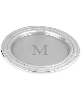 Lenox Tuscany Monogram Barware, Block Letter Round Tray