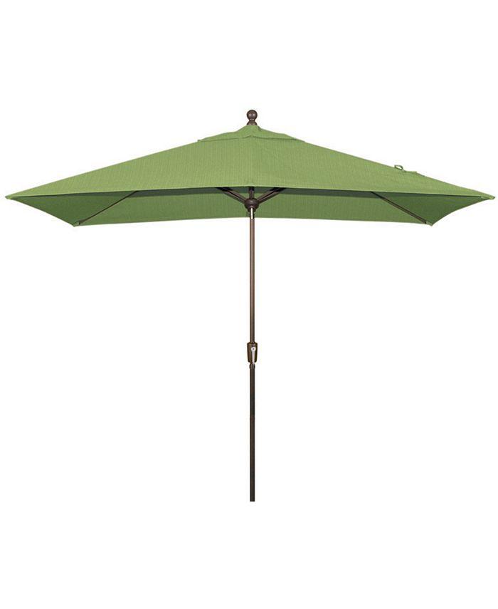 Treasure Garden - Patio Umbrella, Outdoor 8'x10' Rectangle Auto Tilt
