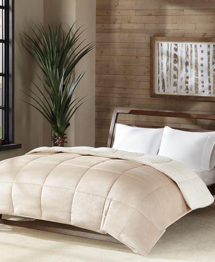 Premier Comfort - Velvet Sherpa Reversible Down Alternative Full/Queen Comforter