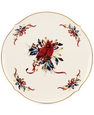 Winter Greetings Round Serving Platter