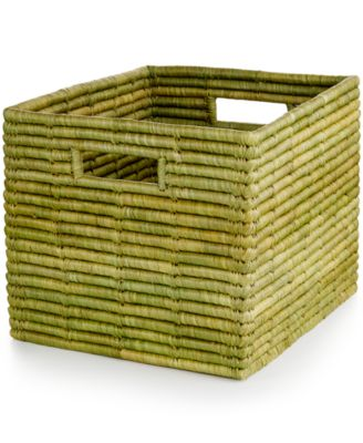 Rwanda Serengeti Raffia and Sweet Grass Square Basket