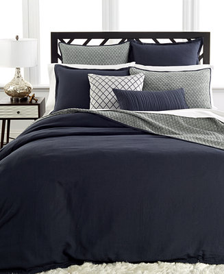 Hotel Collection Linen Navy Bedding Collection - Bedding