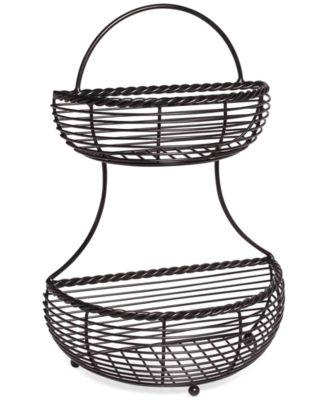 Gourmet Basics By 2-Tier Flatback Wire Basket