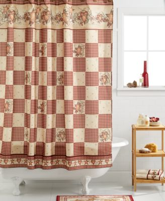 "Avanti Bath, Heart and Stars 72"" X 72"" Shower Curtain"