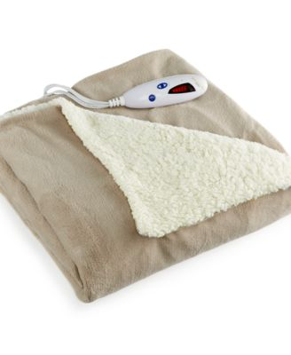 CLOSEOUT! Biddeford Microplush Reverse Sherpa Heated Throws
