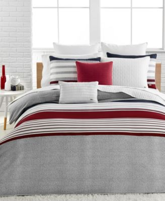 Lacoste Auckland Red King Comforter Set
