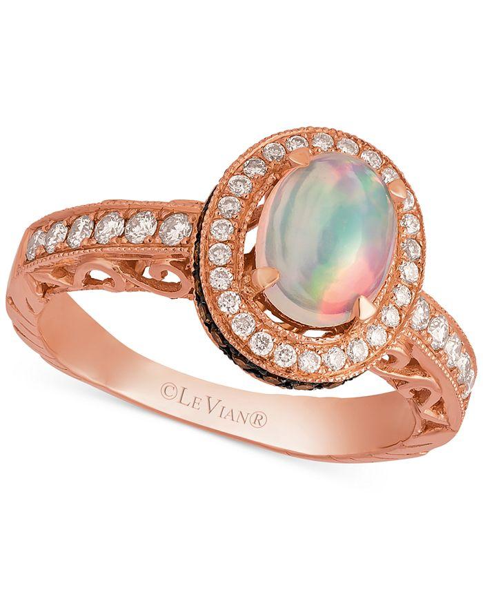 Le Vian - Opal (2/3 ct. t.w.) and Diamond (5/8 ct. t.w.) Ring in 14k Rose Gold