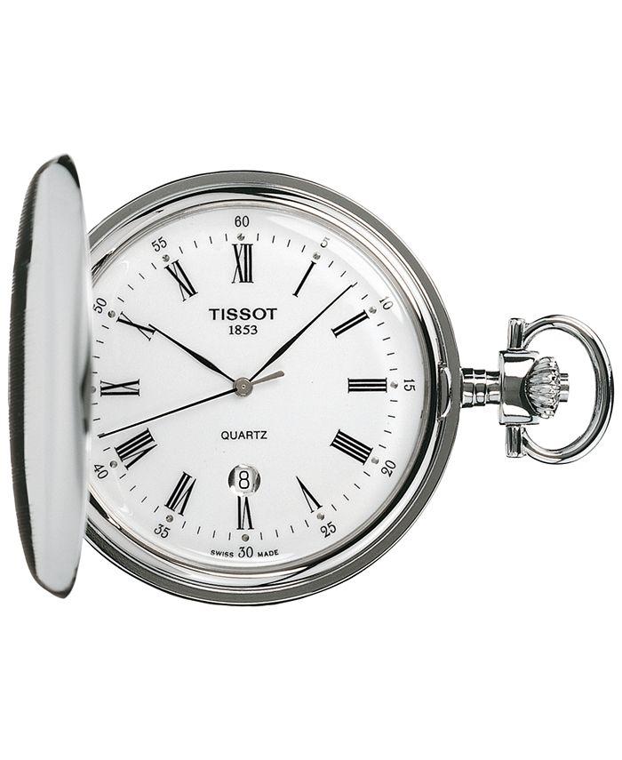 Tissot - Unisex Swiss Savonnette Stainless Steel Pocket Watch 49mm T83655313