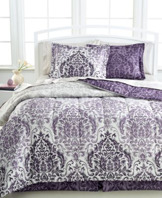 CLOSEOUT! Carey 8-Pc. Reversible Queen Bedding Ensemble