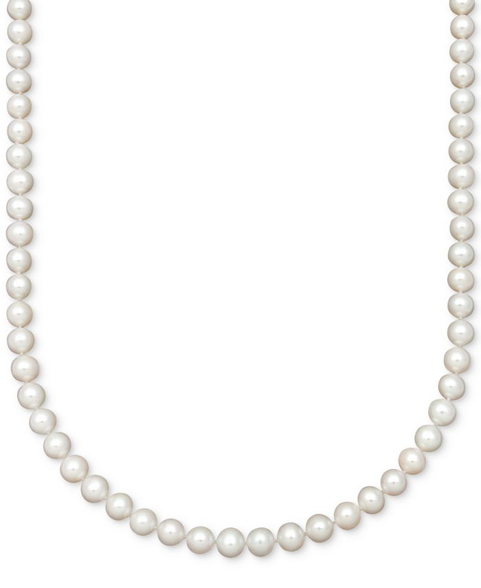 Belle de Mer - AA Cultured Freshwater Pearl Strand Necklace (7-1/2-8-1/2mm)