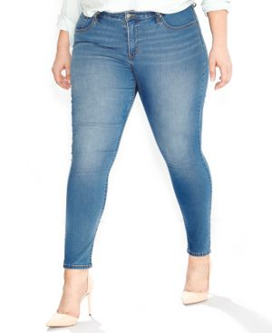 Levi's Plus Size 310 Shaping Super Skinny, Clear Sky Wash