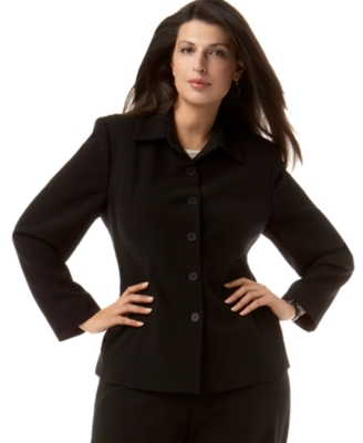 Jones New York Plus Size Jacket, Suiting - Outerwear