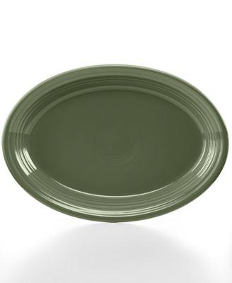 "Fiesta Sage 13"" Oval Platter"