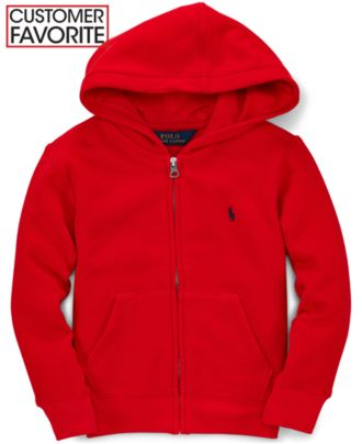 Ralph Lauren Boys' Polo Fleece Zip Hoodie