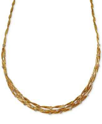 D'Oro by EFFY® Diamond Embellished Necklace (1-5/8 ct. t.w.) in 14k Yellow Gold
