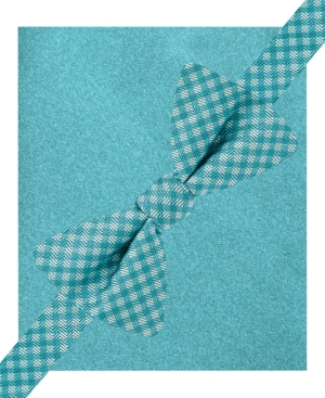 Alfani Spectrum Canton Gingham Pre-Tied Bow Tie & Pocket Square Set, Only at Macy's