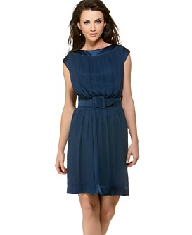 Macy*s - Women's - Maggy London Silk Chiffon Belted Dress from macys.com