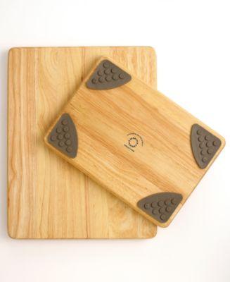 Martha Stewart Collection Wooden Gripper Cutting Boards, Set of 2