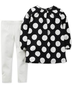 e8338354ccd5 ... UPC 888510864608 product image for Carter's Girls' 2-Piece Polka Dot  Shirt & Leggings ...
