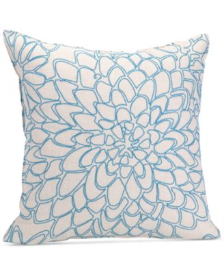 "Trina Turk Catalina Paisley 20"" Square Chainstitch Floral Decorative Pillow"
