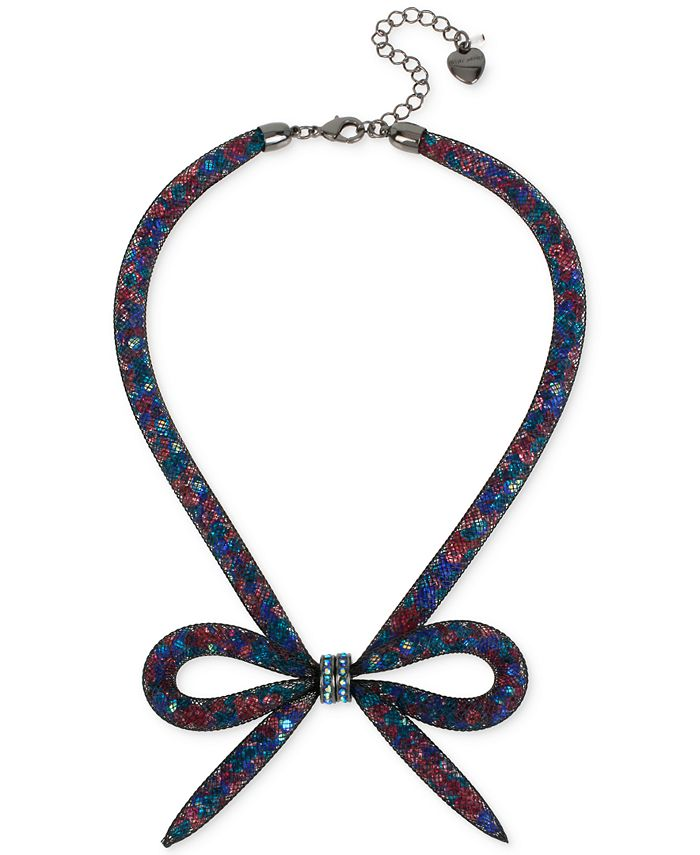 Betsey Johnson - Mesh Bow Collar Necklace