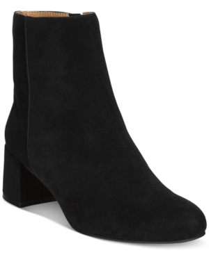 Adrienne Vittadini Lousia Suede Booties Women's Shoes