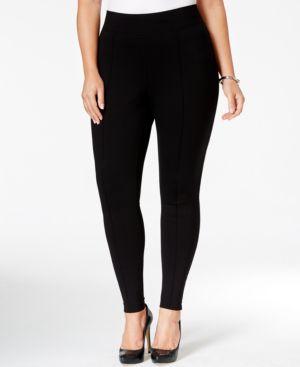 Tahari Asl Plus Size Ponte Skinny Pants