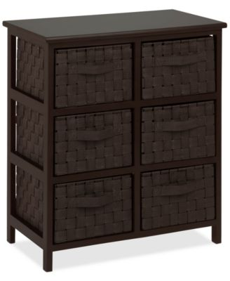 Honey Can Do Woven Strap 6-Drawer Chest