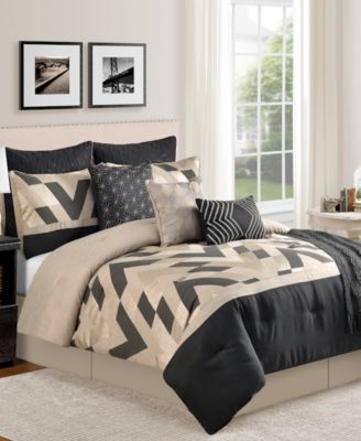 CLOSEOUT! Delmont 10-Piece Queen Comforter Set