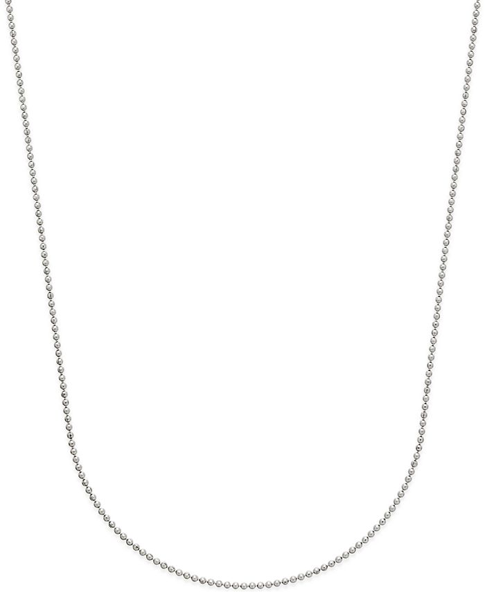 Macy's - Beaded Link Chain Necklace in 14k White Gold
