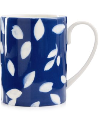 Martha Stewart Collection Stockholm Dinnerware Collection Porcelain Blue Mug, Only at Macy's
