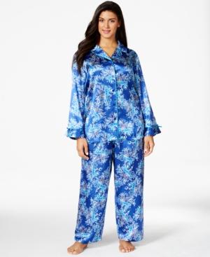 Morgan Taylor Plus Size Pajama Set, Only at Macy's