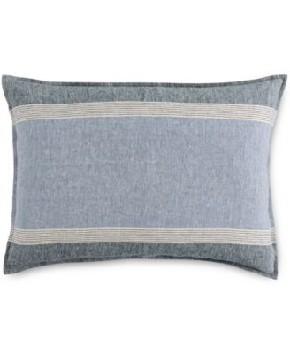 Hotel Collection Linen Stripe King Sham, Only at Macy's