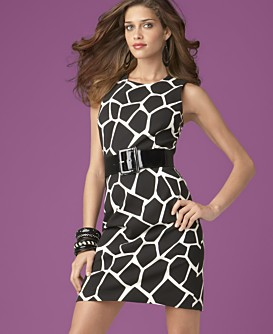 Macy*s - Women's - INC International Concepts® Printed Belted Sheath Dress from macys.com