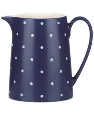 kate spade new york Larabee Dot Navy Collection Stoneware Creamer