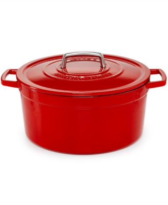 Martha Stewart Collection Collector's Enameled Cast Iron 8 Qt. Round Casserole, Only at Macy's
