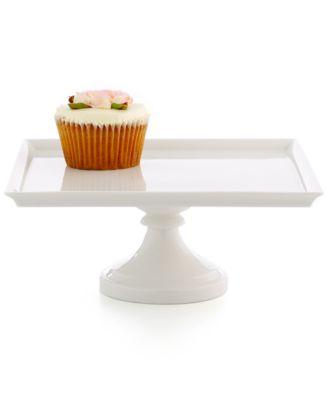 "CLOSEOUT! Martha Stewart Collection Medium 10"" Square Cake Stand"