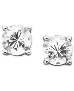 14k White Gold White Sapphire Stud Earrings (2 ct. t.w.) - Earring Studs