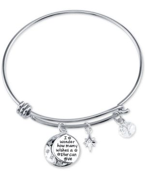 Disney Winnie the Pooh Wishes Crystal Charm Bracelet in Stainless Steel